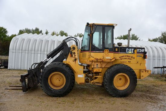 Cat IT24F Wheel Loader, 14,171 Hours Showing, Runs, Drives, Operates Good, 4 Speed Power Shift, Sell
