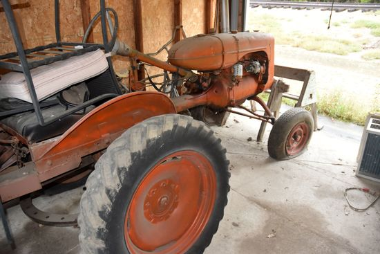 Allis Chalmers C Gas Tractor, W/F, W/ Belt Pulley Buzz Saw Rig, Non Running