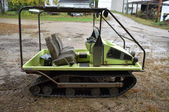"Cushman Trackster, 15"" Rubber Tracks, Hand Winch, Honda Gas Engine, 2 Seater, Canopy, Half Windshiel"