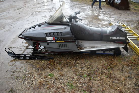 1989 Polaris Indy Trail Snowmobile, Motor Free, Non Running