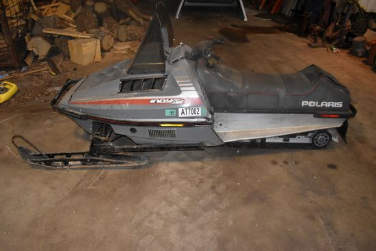 1987 Polaris Indy Trail Snowmobile, Motor Free, Non Running
