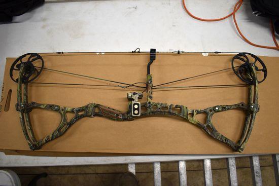 BowTech The General Compound Bow, Single Cam, Trophy Ridge Arrow Rest, Peep Sight