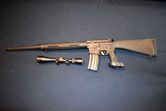 DPMS Model A-15, .223-5.56MM Cal., Semi Auto, Magazine, Custom Grip, Full Stock, Top Rails, With Nik
