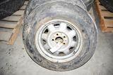 Used Goodyear 6.70-15 Tire On 5 Bolt Rim