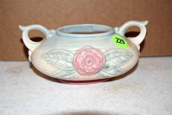 "Hull Pottery Open Rose Sugar 112, 5"""