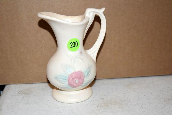 "Hull Pottery Open Rose Vase 128, 4.75"""