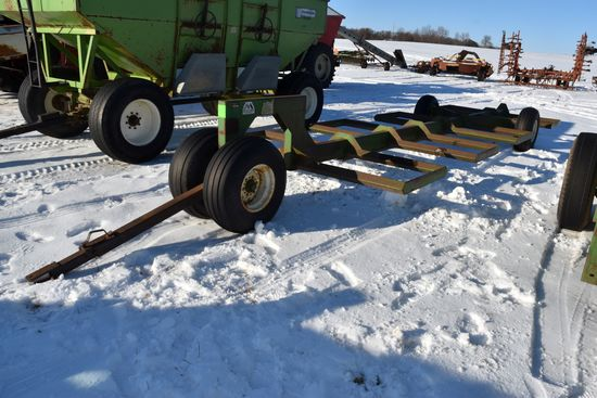 Notch 8BT Round Bale Mover Wagon, 12.5x15 Tires,