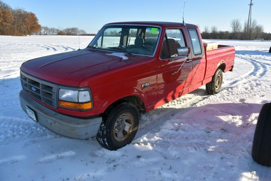 1995 Ford F150 Pickup, Ext Cab, 238,297 Miles, 2