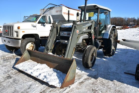 White 6105 2WD Tractor With Agco 670 Loader Non-J