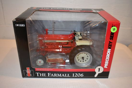 Ertl Precision Key Series No.1 Farmall 1206 Tractor, 1/16th Scale With Box