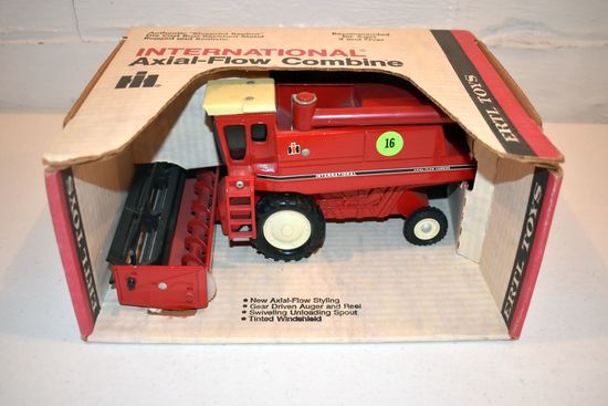 Ertl International Axial Flow Combine, Bean Head, Stock #413, With Box