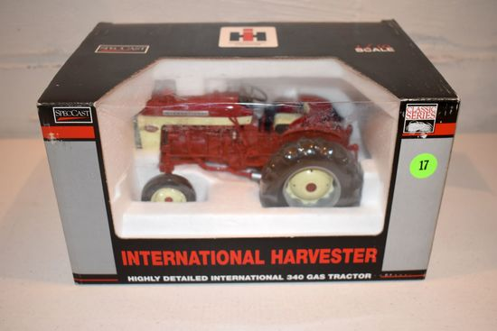 Spec Cast International Harvester 340 Utility Tractor, Highly Detailed, 1/16th Scale With Box