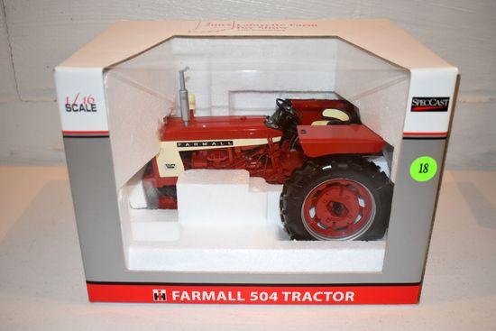 Spec Cast Farmall 504 Tractor, 2005 Lafayette Farm Toy Show, 1/16th Scale With Box