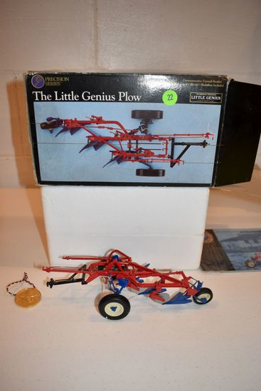 Ertl Precision Series No.5 McCormick Deering Little Genius Plow, With Box, Box Is Rough