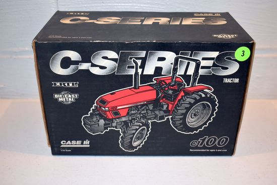 Ertl Case IH C-Series C-100 Tractor, Mechanical Front ROPS, 1/16th Scale With Box