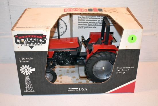 Country Classics By Scale Models Case IH 4230 2WD ROPS Tractor, 1/16th Scale With Box, Box Is Staine
