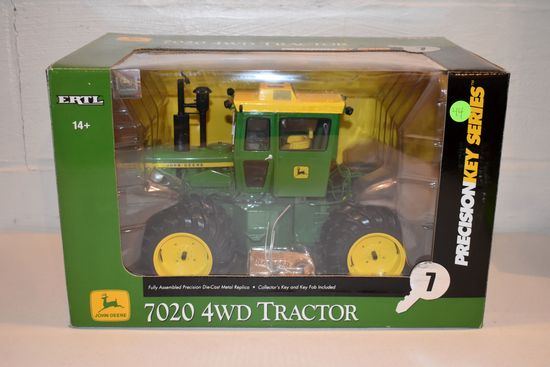 Ertl Precision Key Series No.7 John Deere 7020 4WD Tractor, 1/16th Scale With Box