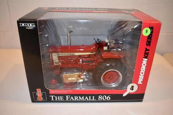 Ertl Britain's Precision Key Series No.4 Farmall 806 Tractor, 1/16th Scale With Box