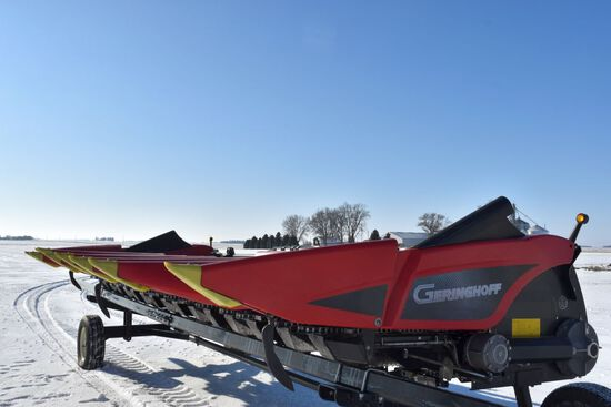 "2012 Geringhoff Roto Disc Elite XL 8R30"" Chopping Corn Head, Header Insight, Hyd Deck Plates, Red Po"