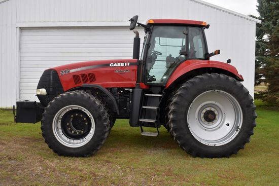 2008 Case IH 215 Magnum MFWD, 2,210 Hours, Front & Rear Duals, Left Hand Reverser, Deluxe Cab, 4hyd,
