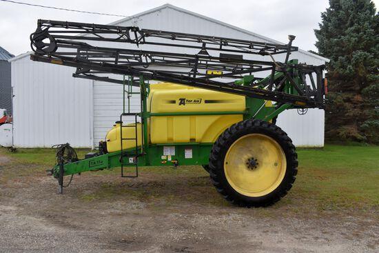 2010 Top-Air TA112 Crop Sprayer, 90' Hyd Booms, 320/90R/46 Tires, Foamer, Rinse Tank, Hyd Pump Drive
