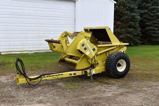 Degelman RP6000 Hydraulic Reel Rock Picker, Swing Hitch, 16.5-16.1 Tires, SN:23064
