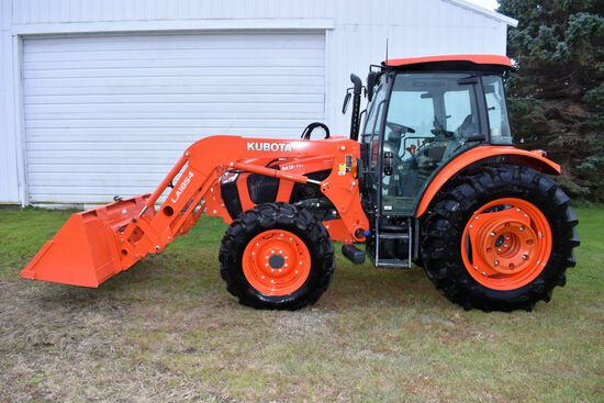 """2018 Kubota M5-111 MFWD, Full Cab With LA1854 Hyd Loader, 83"""" Bucket, 320/85R24 Fronts, 420/85R34 Re"""