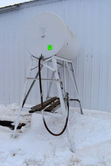 Bulter MFG 300 Gallon Fuel Barrel On Stand