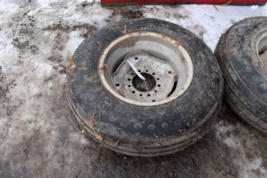 New 9.5x15 Implement Tire On 6 Bolt Rim