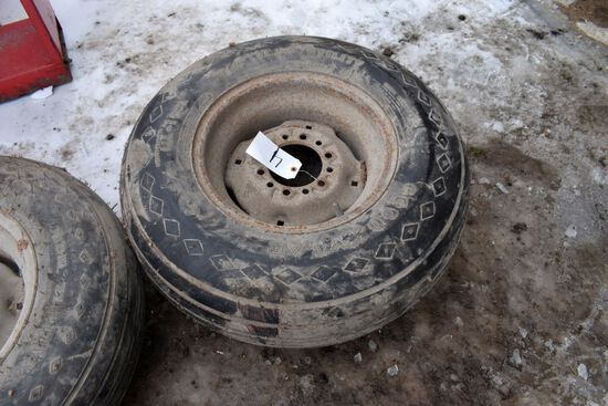 Like New 11L15 Implement Tire On 6 Bolt Rim