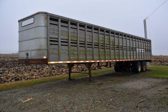 "1976 Chamberlain 40'x96"" Semi Livestock Trailer, Single Deck, Aluminum/Steel Combo, New Floor, Tande"