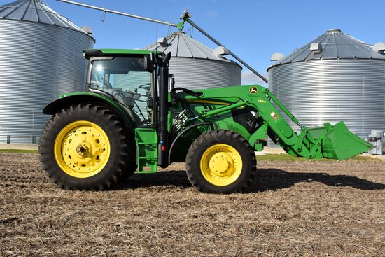 2013 John Deere 6150R Premium MFWD, 901 Actual Hours, with John Deere H360 Loader w/ Aux. Hydraulics