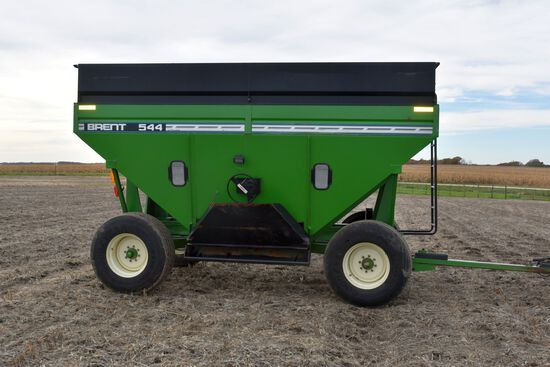 Brent 544 Gravity Box, Rear Brakes, 22.5 Tires, Light Kit, Sight Glass, Right Hand Discharge, Green