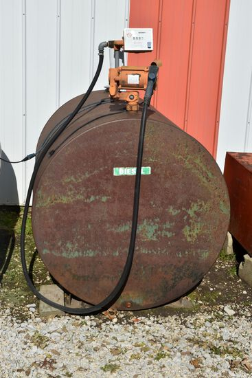 550 Gallon Fuel Tank With Gasboy Electric Pump