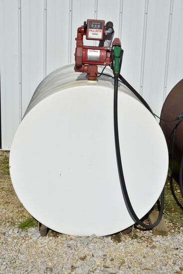 550 Gallon Fuel Tank With Fil-Rite 701V Electric Pump