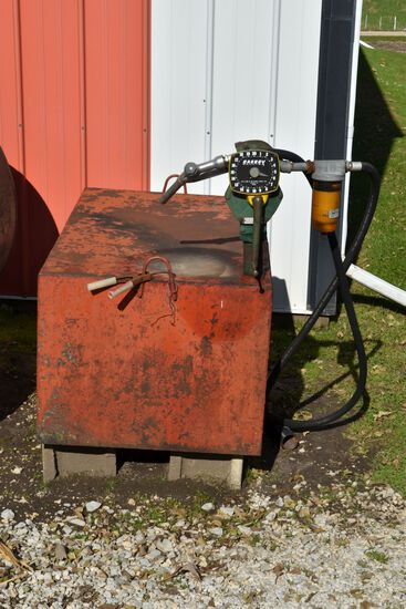 110 Gallon Fuel Tank With Gasboy Hand Pump
