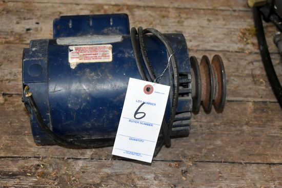 Leeson 1.5HP Single Phase Electric Motor