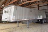 "2008 Jet Hopper Bottom Grain Trailer, Aluminum Steel Combo, 34' x 96"" x 66"" Spring Ride, Electric Ro"