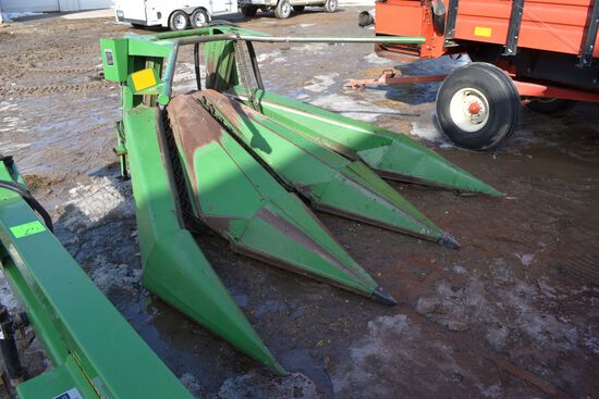 "John Deere Corn Head (Green) 3 Row 30"", Clean, Good Condition, SN: X990415"
