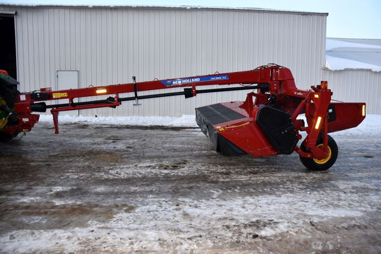 2015 New Holland 313 Mow Max II Center Pivot Discbine, 1000PTO, 12', Rubber Rolls, SN: YEN252363