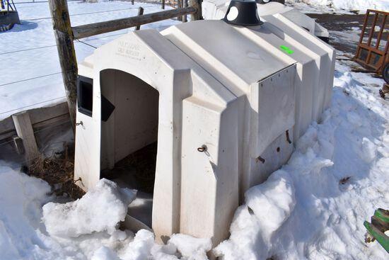 Poly Square Calf Nursery, Bucket Holders, Rear Vent Door