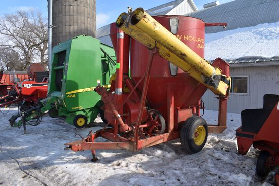 New Holland 354 Mixer Mill, Hydraulic Drive, Long Auger
