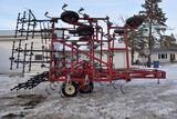 Wil-Rich 3400 Field Cultivator, 32.5', 14' Main Frame, 4 Bar Harrow, Light Kit, Gauge Wheels, Walkin