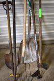 Scoop Shovel, Axe, pitch fork, garden hoes