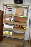 5 shelf metal shelving unit, no contents