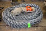 Nylon Tractor Tow Rope With HD Clevis