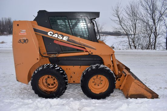 2005 Case 430 Skid Loader, 2,006 Actual Hours, Cab, Heat, Aux Hyd, Quick Attach, Hand Controls, SN: