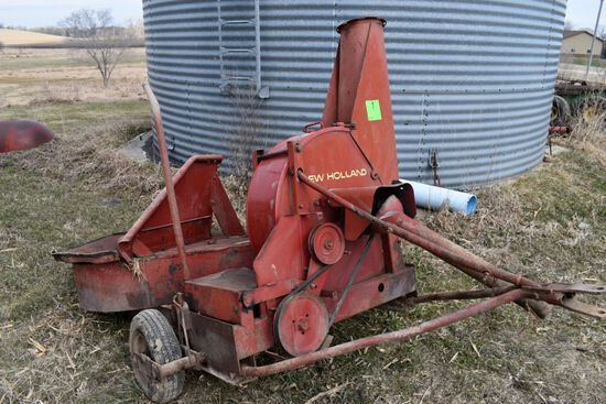 New Holland Model 30 Silage Blower, 1000PTO, Whirl-A-Feed Feed Hopper, Newer Band
