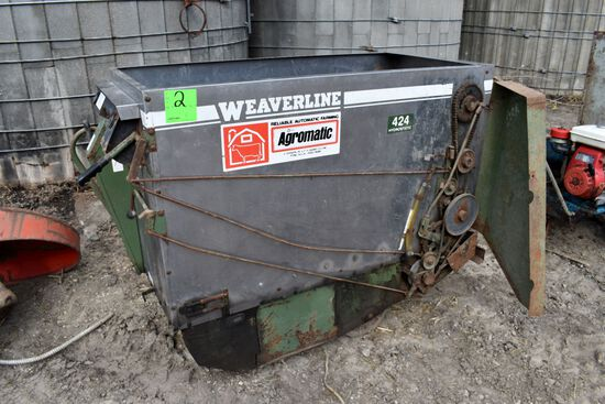 Weaverline 424 Stainless Steel Power Feed Cart, Hydro, 36 Volt, Has Chrager, Needs New Batteries
