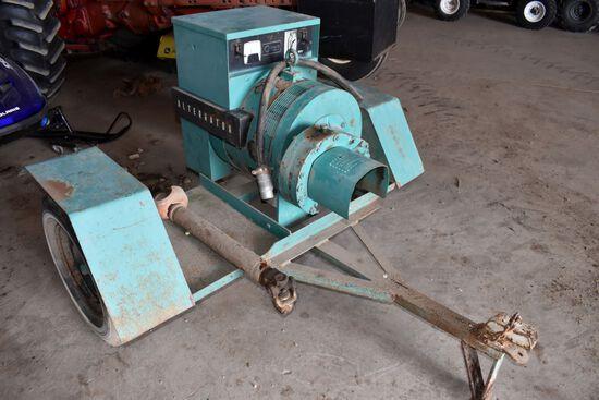 Onan Model 55.OUR-3C/1C 55KW PTO Generator On Cart, SN: 0775953919